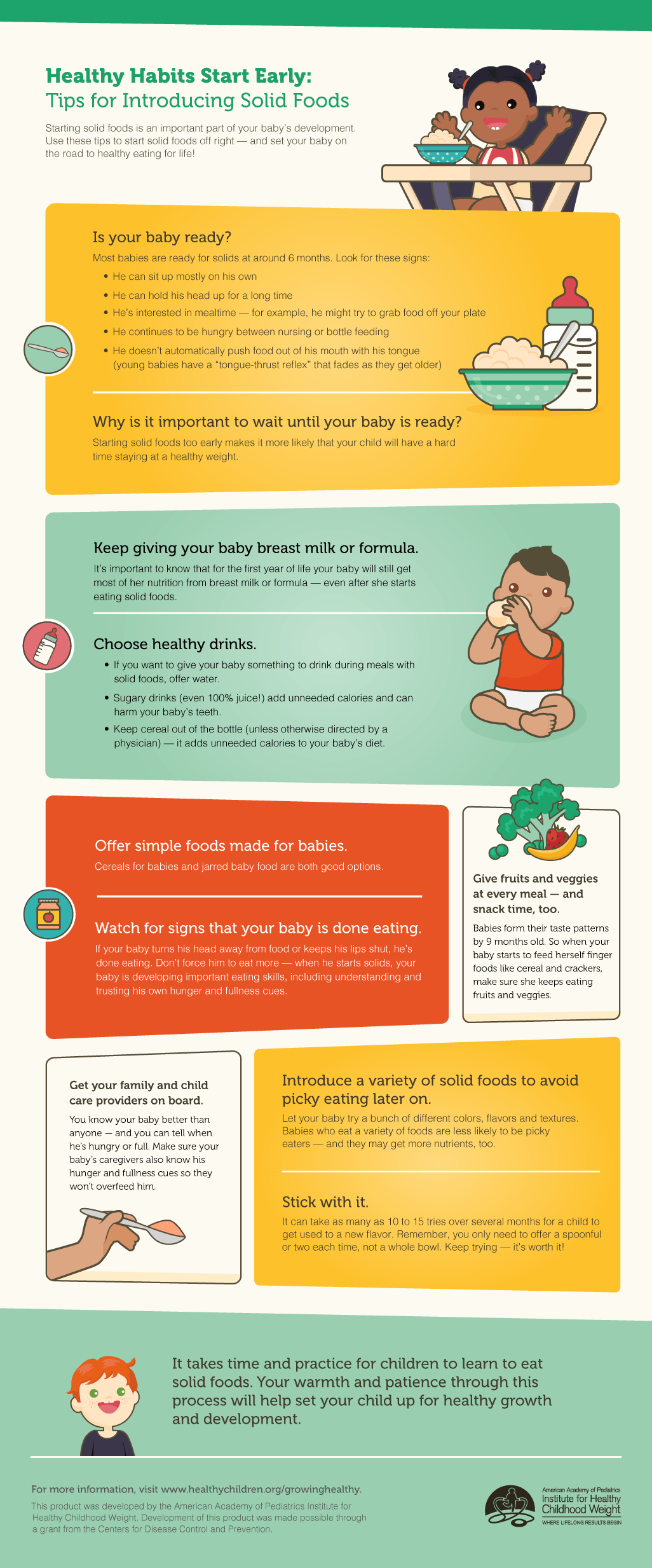 infographic - tips for starting solid foods
