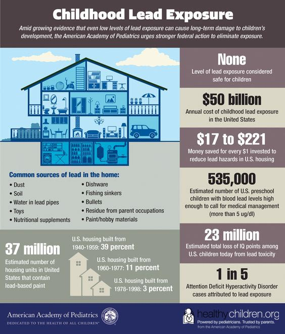Childhood Lead Exposure - AAP Infographic