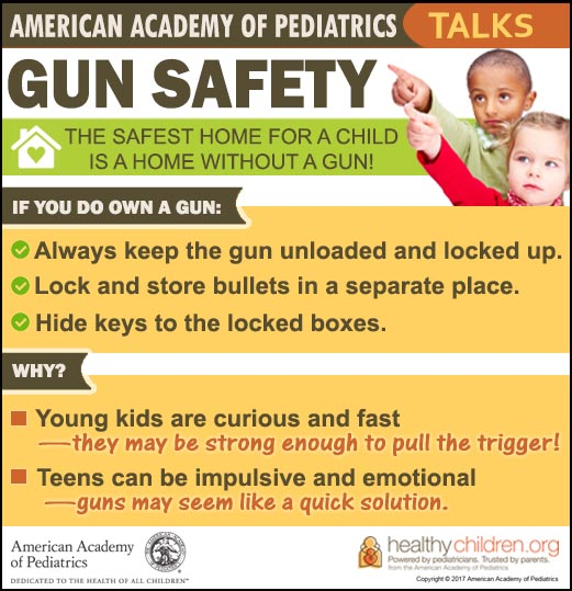AAP Gun Safety Infographic - 2017