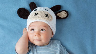 baby boy cow hat