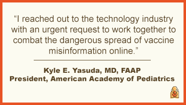 AAP Urges Tech Companies to Combat Vaccine Misinformation Online